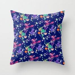 little halloween witches Throw Pillow