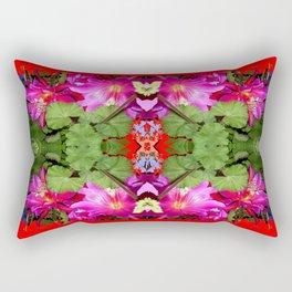 Modern Fuchsia Flowers Still Life Abstract Rectangular Pillow
