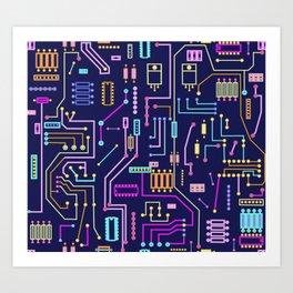 Circuits Art Print
