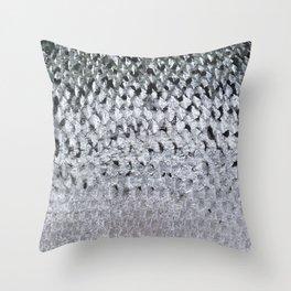Silver Fish Throw Pillow