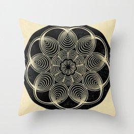 Antique Spiral Geometry Throw Pillow