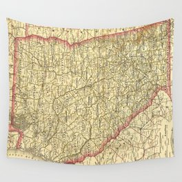 Vintage Map of Georgia (1883) Wall Tapestry