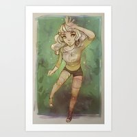 cyarin Art Prints featuring Greens by Cyarin