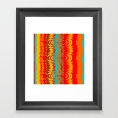 Groovy Red Framed Art Print