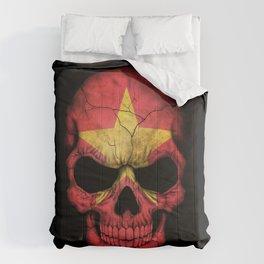 Dark Skull with Flag of Vietnam Comforters