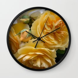 Graham Thomas old fashioned rose Wall Clock