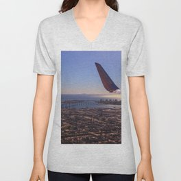We will be landing in San Diego Unisex V-Neck