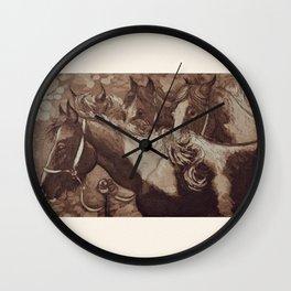 Gypsy Cobs / Horses Wall Clock