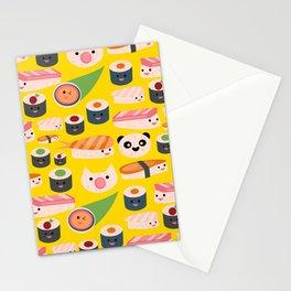 Kawaii sushi sushi Stationery Cards