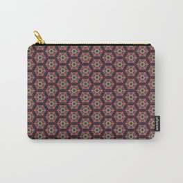 Flowers and Bees Pattern 1 Carry-All Pouch