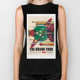 Old Sign NASA / The grand tour Biker Tank