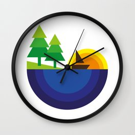 Geometric Landscape Wall Clock