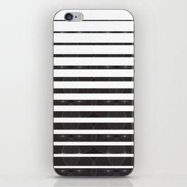 Spirograph on stripes - 1 iPhone Skin
