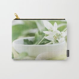 Spring made of dreams with snowdrops and Porzellan Carry-All Pouch