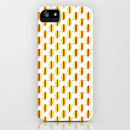 Cute Cartoon Hot Dog Pattern iPhone Case