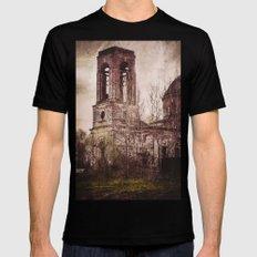 Church in ruins Mens Fitted Tee Black MEDIUM