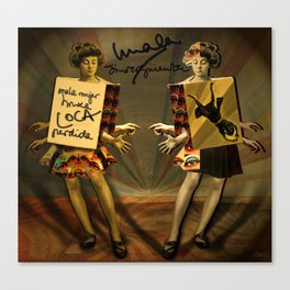 """Mala mujer"" Canvas Print"