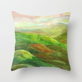 Lines in the mountains XVI Throw Pillow