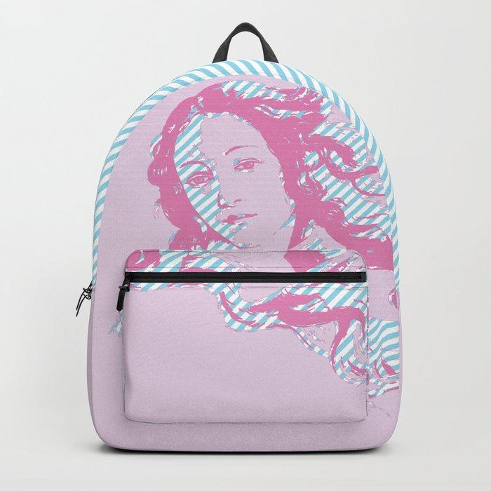 Rebirth of Venus - Pink & Cyan - Trans Pride! Backpack