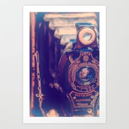 Preserving the Past a digital photograph of a vintage folding camera Art Print