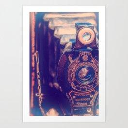 Preserving the Past a digital photograph of a vintage folding camera Art Print