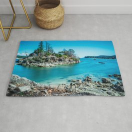 Rocky Island in the Bay Rug
