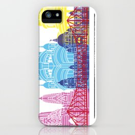 Kolkata skyline pop iPhone Case