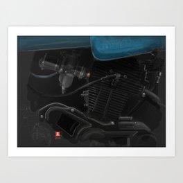 Vintage Laverda Motor Art Print