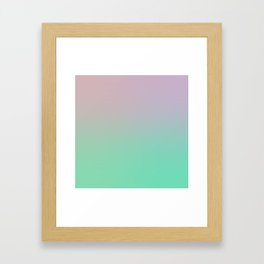 Minty Colorful Gradient #1 Framed Art Print