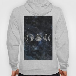 Moon Phases Luna Watercolor  2 Hoody