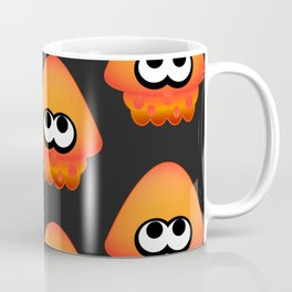 Splatoon Squid Pattern Orange Coffee Mug