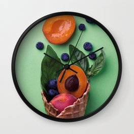 Color food II: Apricots Wall Clock