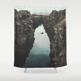I left my heart in Iceland - landscape photography Shower Curtain
