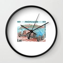 1979 Monaco Grand Prix 50 Year Anniversary Postage Stamp Wall Clock