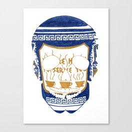 Happy To Serve Skull Canvas Print