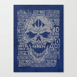 Naysayer Skull Canvas Print