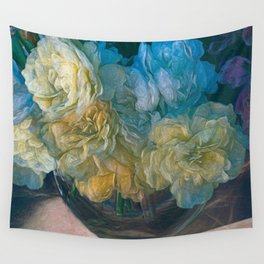 Vintage Still Life Bouquet Painting Wall Tapestry