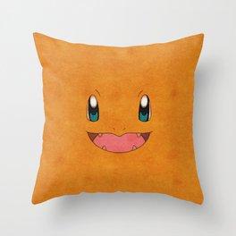 Char Mander Poke Mon Throw Pillow