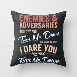 Tear Me Down Graphic Throw Pillow