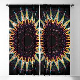 Futuristic Zen Mandala Blackout Curtain