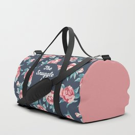 The Snuggle Is Real (Floral) Funny Quote Duffle Bag