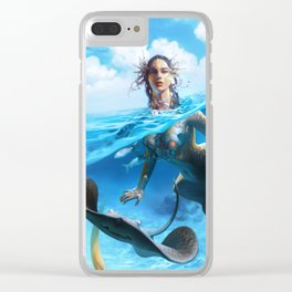 Ray Mermaid Clear iPhone Case