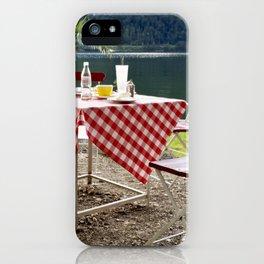 Summer at Hallstatt Lake iPhone Case