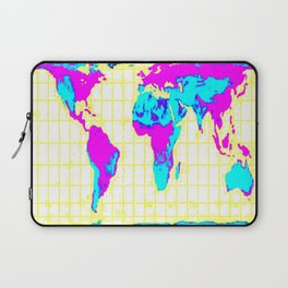 World Map: Gall Peters Colorful Laptop Sleeve