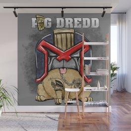 Pug Dredd Wall Mural