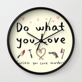 Motivational Poster Wall Clock