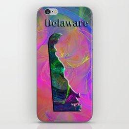 Delaware Map iPhone Skin