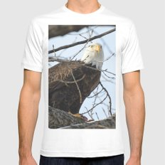 Eagles of Wisconsin 1 - A Wildlife Art Print White Mens Fitted Tee MEDIUM