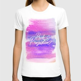 Pride & Prejudice Vibrant Quotes T-shirt