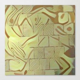 Walled Wild Pattern Canvas Print